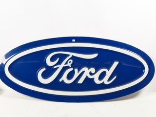FORD OVAl S S PlASTIC EMBOSSED SIGN
