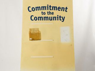 FORD COMMITTMENT TO COMMUNITY D S DISPlAY BOARD
