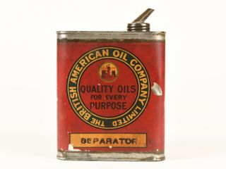 BRITISH AMERICAN OIl CO  SEPARATOR OIl CAN