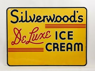 SIlVERWOOD S DElUXE ICE CREAM SST SIGN
