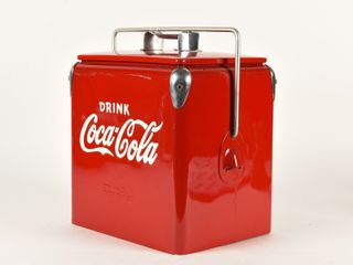 DRINK COCA COlA EMBOSSED PICNIC COOlER   NEW