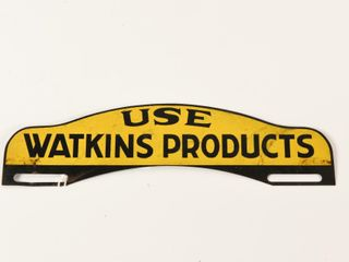 USE WATKING PRODUCTS SST lICENSE PlATE TOPPER