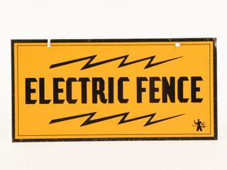 ElECTRIC FENCE SST SIGN
