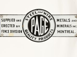 PAGE FENCE DIVISION STEEl   WIRE SSP DIECUT SIGN