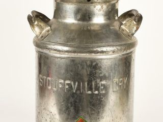 STOUFFVIllE CRY  1246 ENGRAVED MIlK CAN