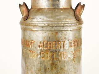 RARE MOUNT AlBERT CRY lTD  ENGRAVED MIlK CAN