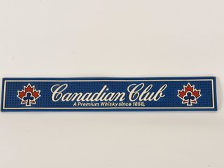 CANADIAN ClUB WHISKEY SINCE 1958 BAR MAT  NOS