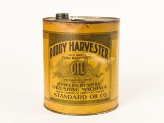 RUDDY HARVESTER FARM MACHINERY OIl CAN