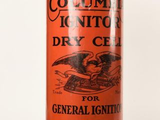 COlUMBIA IGNITOR DRY CEll BATTERY ADV  DISPlAY