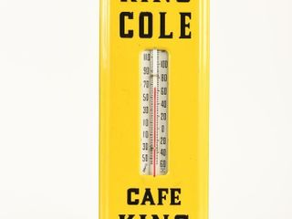 THE KING COlE CAFE S S PAINTED METAl THERMOMETER