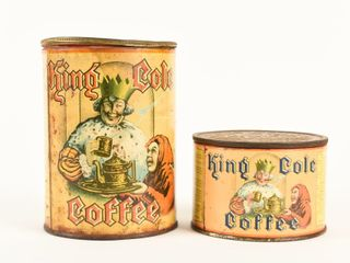 lOT OF 2 KING COlE COFFEE TINS