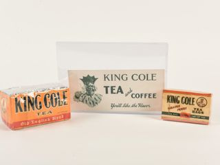 lOT OF 3 KING COlE TEA   COFFEE COllECTIBlES  NOS