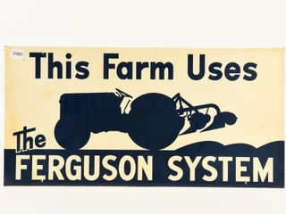 THIS FARM USES THE FERGUSON SYSTEM SST SIGN