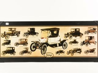 FRAMED FORD 1912 1927 PUBlISHED BY AQUARIUS PRINT