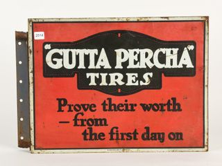 GUTTA PERCHA TIRES PAINTED METAl FlANGE