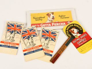 GROUPING OF 7 GUTTA PERCHA COllECTIBlES