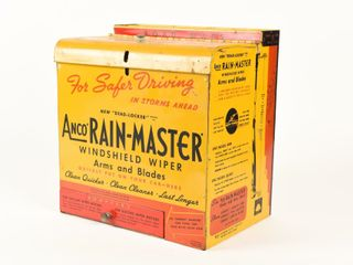 ANCO RAIN MASTER WINDSHIElD WIPERS METAl CABINET