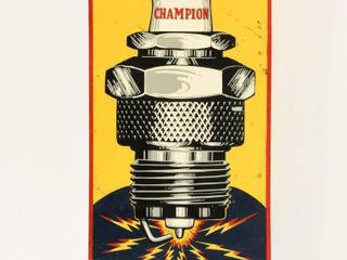 CHAMPION SPARK PlUG SERVICE S S PAINTED METAl SIGN