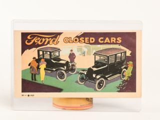 1923 FORD ClOSED CARS ADVERTISING