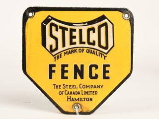 STElCO FENCE SSP DIECUT SIGN