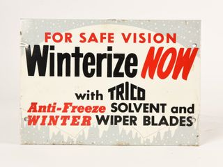 TRICO FOR SAFE VISION WINTERIZE NOW SST RACK SIGN