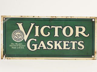 VICTOR GASKETS S S PAINTED METAl SIGN