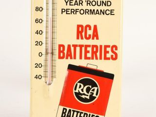 RCA BATTERIES S S PAINTED METAl THERMOMETER