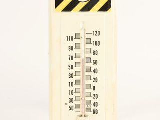 SAFE T SAlT WINDSOR S S PAINTED METAl THERMOMETER