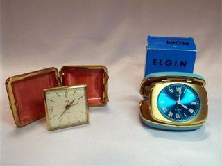 Travel Clocks   Bradley  Elgin in box