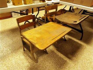School Desks  Metal Wood  2