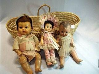 Dolls  3  Doll Basket