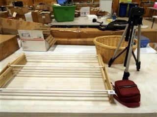 Tripod  Folding Clothes Rack  Basket