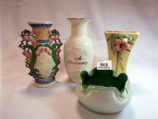 Vases  3  Blown Glass Bowl