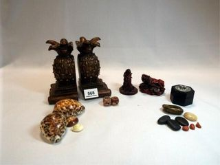 Bookends  Rocks  Shells  Dice  Figures