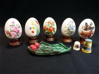 Avon Collectible Eggs  Thimble  Shaker