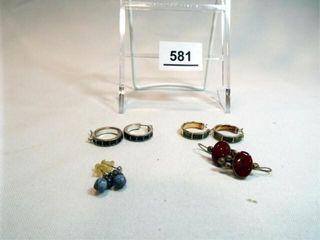 Earrings  Pierced  including 925 pair  4