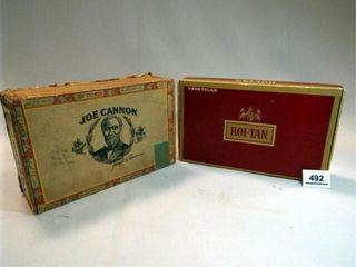 Roi Tan  Cannon Cigar Boxes