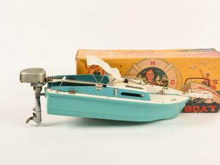 1960 S lANG CRAFT MODEl BOAT  BOX