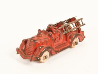 HUBlEY HORSE DRAWN CAST IRON lADDER TRUCK