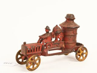 EARlY CAST IRON HORSE DRAWN FIRE TRUCK