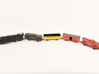 VINTAGE MARX WIND UP ENGINE  3 CARS   CABOOSE