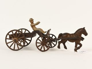 CANADIAN BEAVERTON CAST IRON HORSE DRAWN WAGON