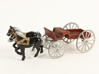 CANADIAN HORSE DRAWN CAST IRON WAGON