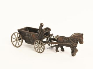 VINTAGE CANADIAN CAST IRON DUMP WAGON