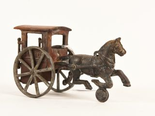 RARE CANADIAN CAST IRON HORSE DRAWN MAIl CART