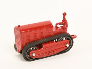 VINTAGE TOOTSIE TOY CAST TRACTOR ON TRACKS