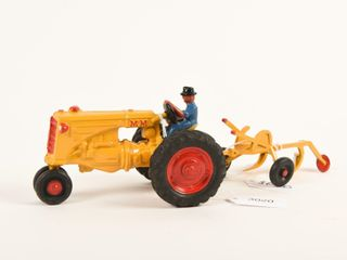MM CAST IRON TRACTOR WITH 2 FURROW PlOW  REPAINT