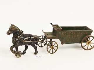 HORSE DRAWN CONTRACTORS CAST IRON DUMP WAGON