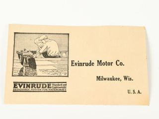 RARE 1920 S EVINRUDE MOTOR CO  ENVElOPE