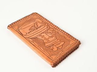 1960 S JOHNSON OUTBOARD MOTOR lEATHER WAllET